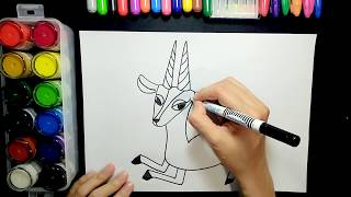 How to draw a gazelle【Ginger