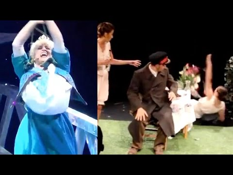 TOP 20 FUNNY THEATER FAILS, STAGE FALLS & THEATRE BLOOPERS | Theatre Fail Compilation