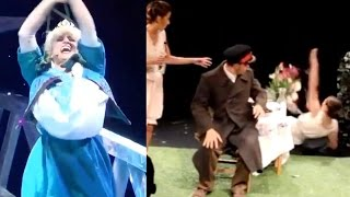 TOP 20 THEATER FAILS, STAGE FALLS & THEATRE BLOOPERS | Theatre Fail Compilation