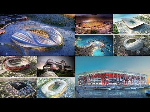 شاهد ملاعب قطر المستضيفة لكأس العالم 2022| تصاميم خرافية..!!