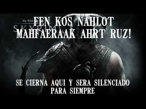 skyrim: theme song Dovahkiin - subtitulado al español (RS)