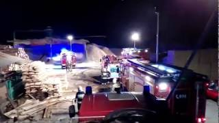 [NAGRANIE Z MIEJSCA AKCJI] Pożar tartaku w Rycerce Dolnej | 25.04.2019 | OSP Milówka