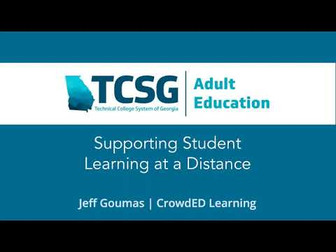 TCSG Supporting Student Learning From A Distance