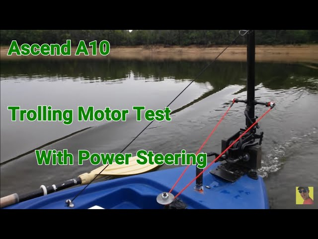 Ascend A10 kayak with trolling motor, test on the Meramec River