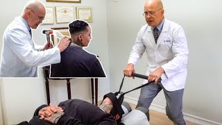 Relaxing Chiropractic *ASMR* Adjustment *Y-STRAP* Releases Pain In Neck