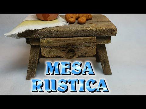 Mesa rustica de madera para cocina del nacimiento youtube - Mesa rustica madera ...