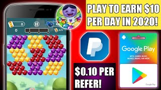 Bubble Burst App || GOOGLE PLAY CREDIT || PAYPAL CASH || PLAY TO EARN $10 PER DAY || Tricks Hoster screenshot 4