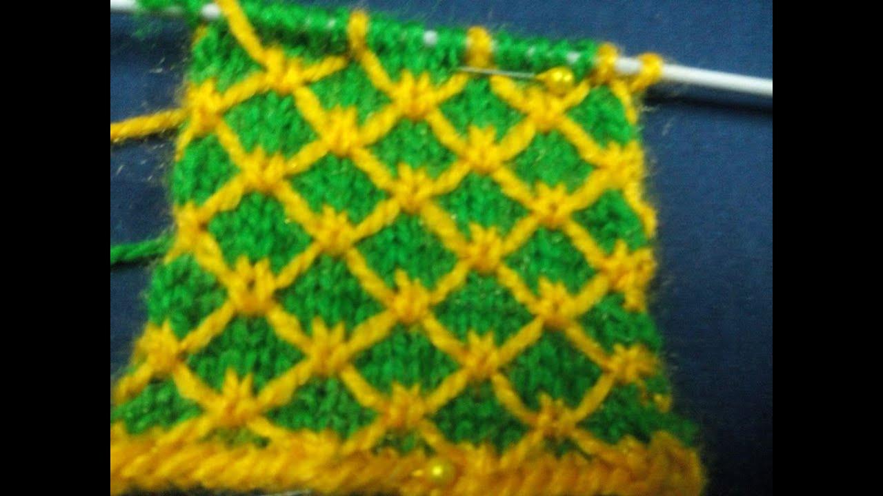 Knitting Pattern / Stitch Design # 4 - Hindi - बुनाई ...