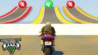 GTA V Online: QUAL RAMPA É TROLL com MOTOS?!!! (ACERTE o CAMINHO)