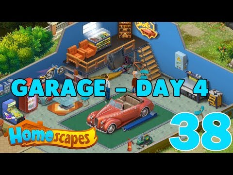 HOMESCAPES STORY WALKTHROUGH - ( GARAGE - DAY 4 ) GAMEPLAY - ( IOS | Android ) #38