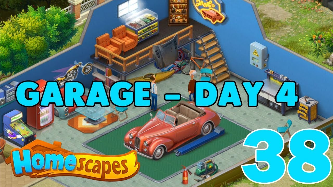 HOMESCAPES STORY WALKTHROUGH - ( GARAGE - DAY 4 ) GAMEPLAY ...