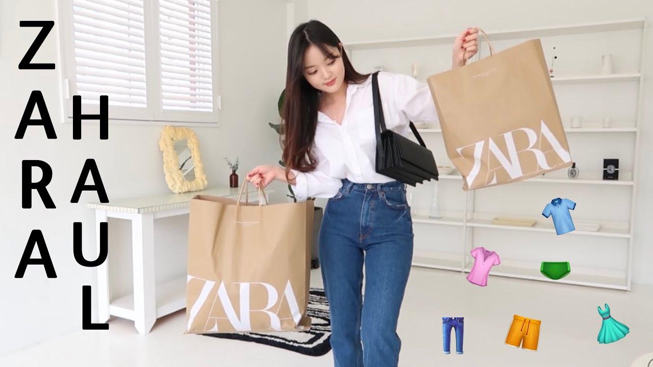 자라 패션하울 🛒🛒 ZARA HAUL 가을필수템 탈탈 털깅 (자켓,니트,스커트,데님,셔츠) 쇼핑하울 try on haulㅣbird정은