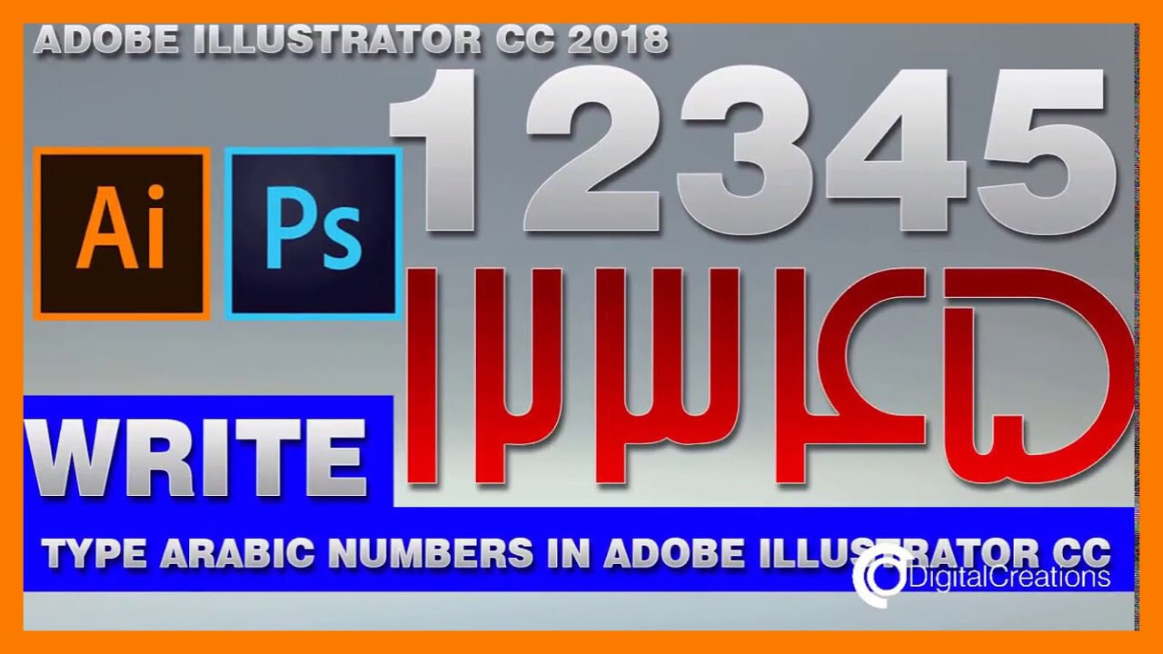 how to write arabic numbers in photoshop cs3