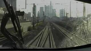 Leaving Frankfurt/M train station onboard ICE train
