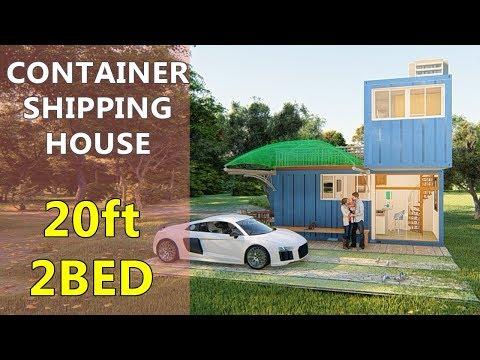 Shipping Container Van House Design 2 Storey 2 Bedroom