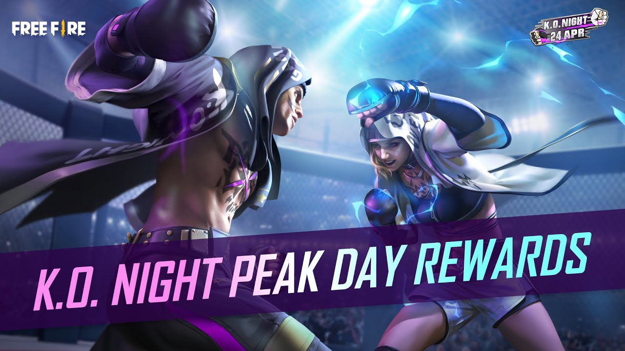 K.O. Night Peak Day Rewards | English | Garena Free Fire
