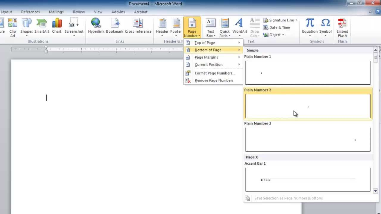 How to add page numbers in word youtube how to add page numbers in word ccuart Gallery