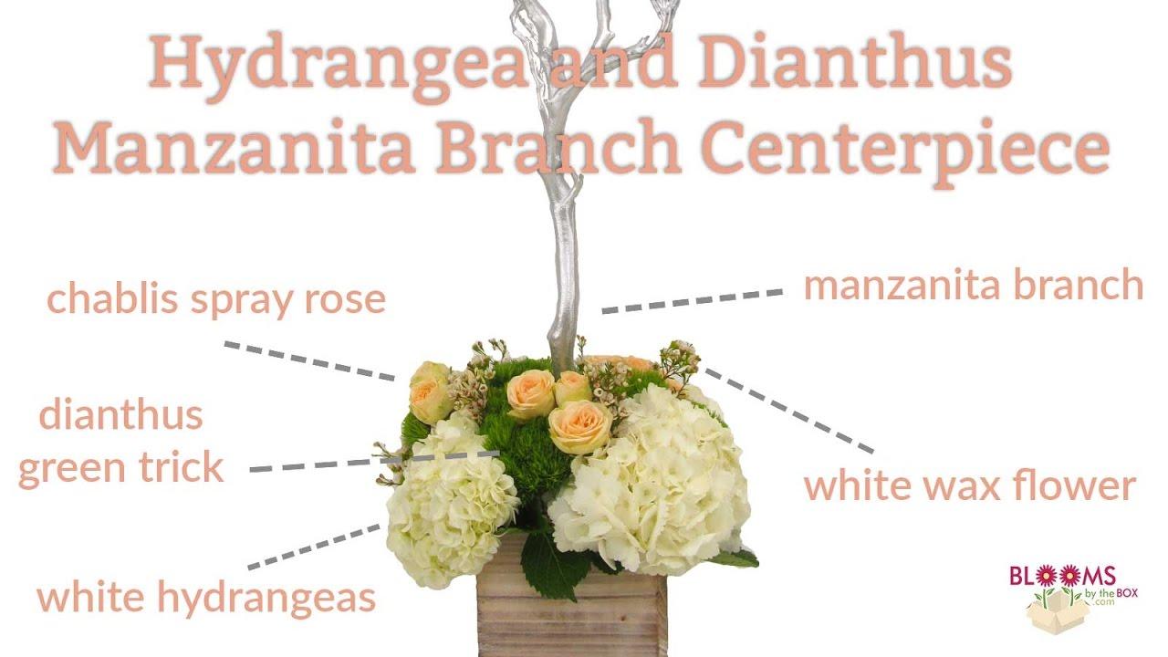 Manzanita Branch Centerpiece - YouTube