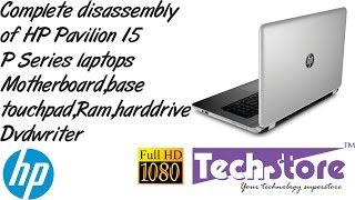 HP Pavilion 15 P series Laptop How to Disassemble Upgrade ram harddrive ssd motherboard