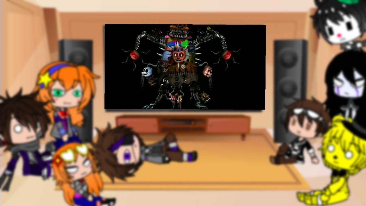 Afton Family + Golden Freddy + Puppet + Ennard reacts to cursed images