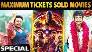 Maximum Tickets Sold Movies | TSK | COCO | Avengers | Kaala | Seemaraja