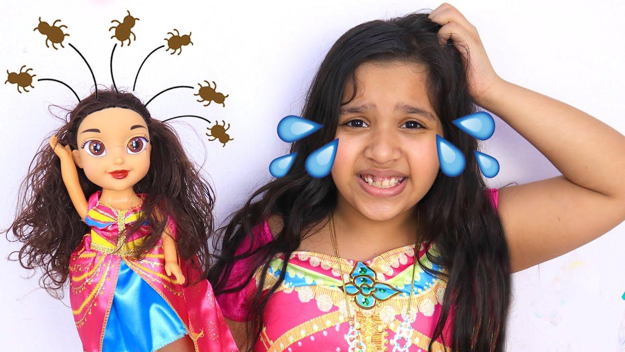 لعبتي انعدت قمل في شعرها ! ? my doll caught lice and now