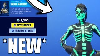 Skull Ranger & Skull Trooper EDIT STYLES! | Skull Trooper Return | Fortnite Item Shop oct 10