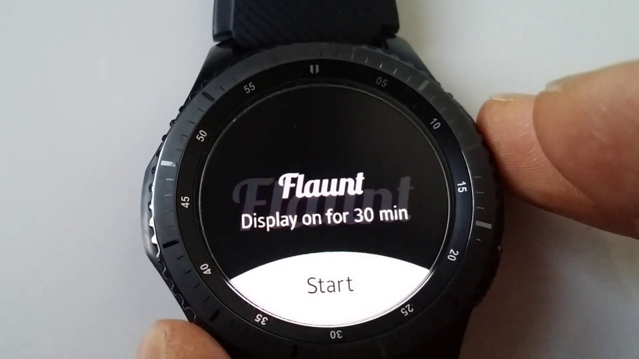 Samsung Gear S3 or Sport - Flaunt it! App to keep screen on - Always on  Display