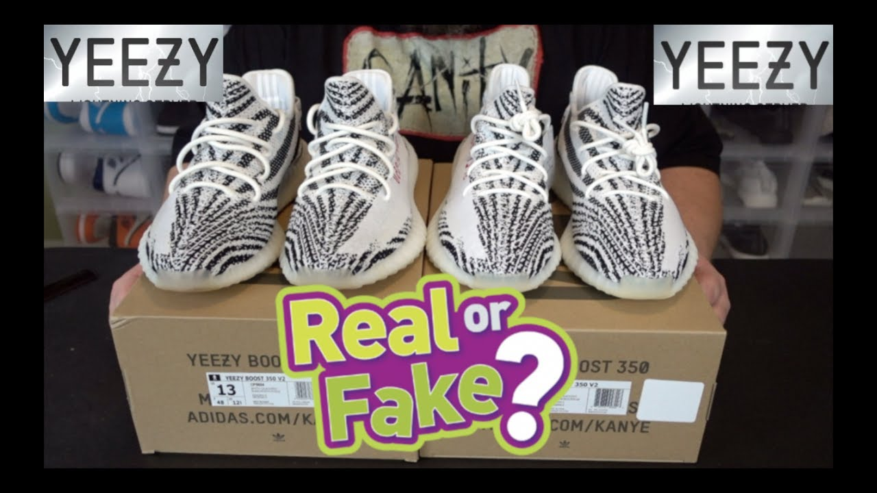 YEEZY BOOST 350 V2 ZEBRA Real Vs. Fake LEGIT CHECK YOUR YEEZYS WITH THIS  VIDEO