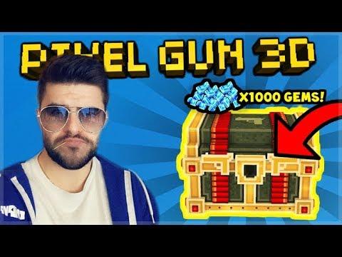 [LIVE] Pixel Gun 3D   CRAZY SPENDING 1,000+ GEMS ON LUCKY CHESTS!!