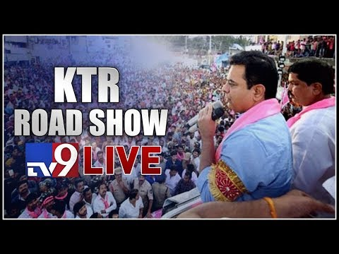 KTR Roadshow LIVE    Telangana Elections 2018 - TV9