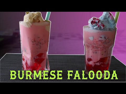 How to make Burmese Falooda and Unicorn Falooda