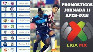 PRONÓSTICOS JORNADA 13 APERTURA 2018 LIGA MX FÚTBOL MEXICANO