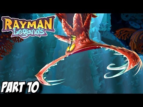 Rayman Legends Gameplay Walkthrough Part 10 - Sea of Serendipity