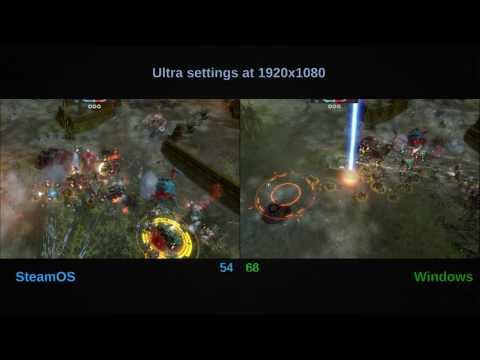 Warhammer 40K Dawn Of War II - SteamOS And Windows Benchmark