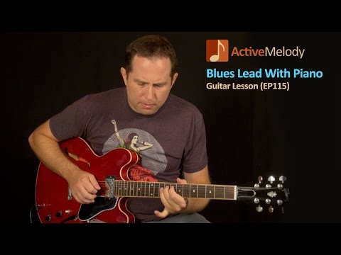 Slow Blues Lead Guitar With Piano - Guitar Lesson - EP115