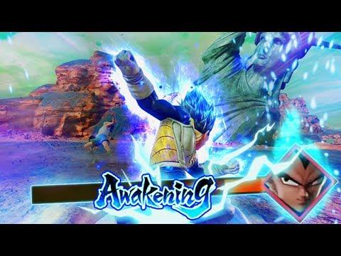 SAIYAN LIMIT BREAK! NEW Super Saiyan Blue Vegeta TRANSFORMATION! Jump Force Gameplay (Open beta)