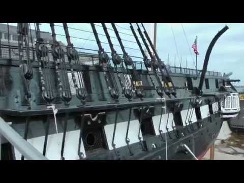 Boarding The USS Constitution in Dry Dock - Boston, MA