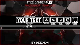 FREE BANNER TEMPLATE #23 Photoshop