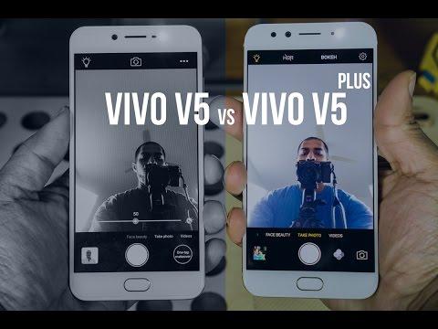 Vivo V5 vs Vivo V5 Plus | 20 MP dual front facing camera