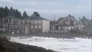 Hurricane Sandy Bailey Island Maine Driftwood Inn Huge Waves different angle 2