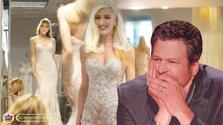 Blake Shelton sheds tears of happiness at the moment the second wedding dress worn by Gwen