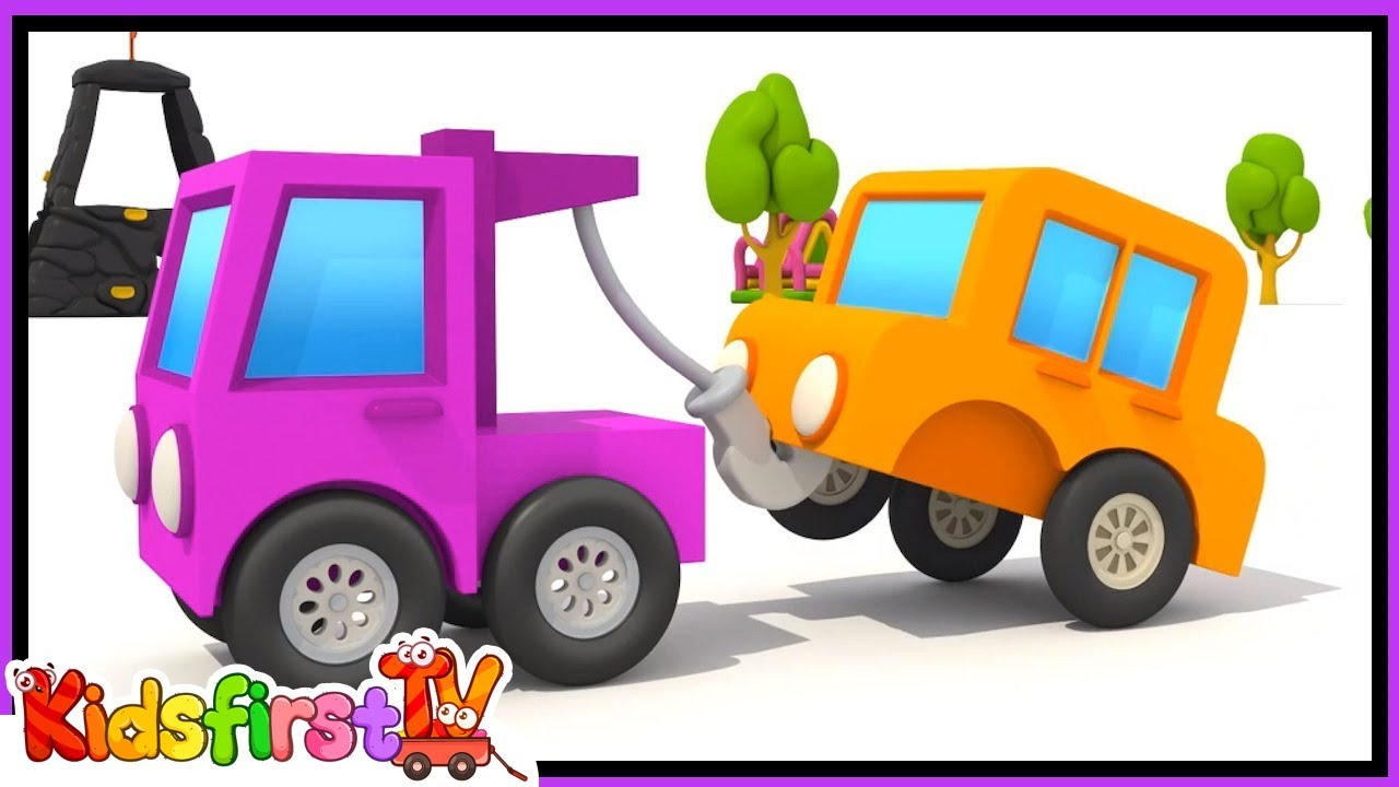 Uncategorized How To Draw A Tow Truck excavator max and a tow truck children cartoons youtube