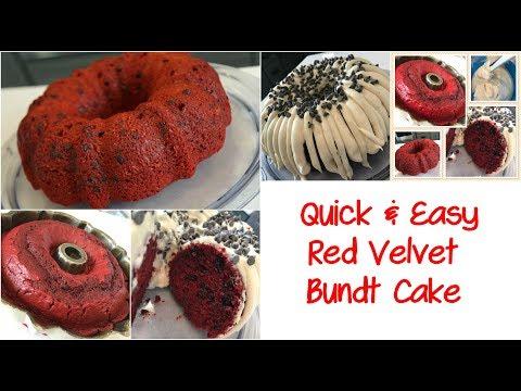 Last Minute Bundt Cake That  Is Sure To Please! Red Velvet