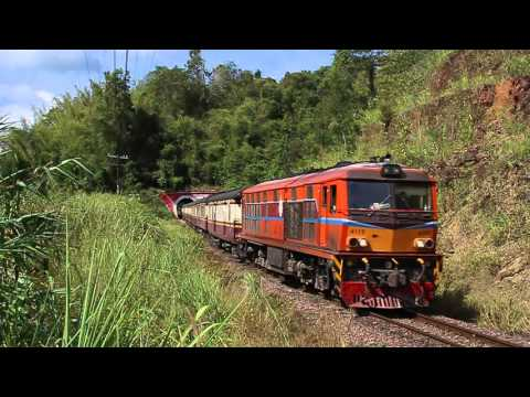 """ทางรถไฟสายเหนือ State railway of Thailand : ขบวน 102 ลอดผ่านอุโมงค์ """"ปางตูบขอบ"""" 02-01-25595 (50fps)"""