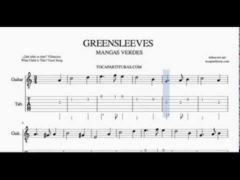 Greensleeves Tab Sheet Music For Guitar What Child Is This Mangas