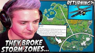 Ninja Gets ANNOYED After Epic BREAKS The Storm Zones & Make It IMPOSSIBLE To Rotate!
