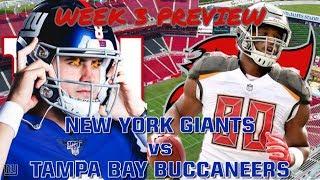 New York Giants vs Tampa Bay Buccaneers 2019 Week 3 Preview
