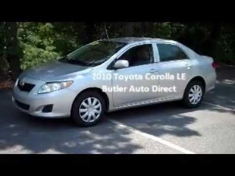 2010 Toyota Corolla LE SilverButler Auto DirectMaconWarner