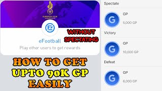 GET MATCH-DAY FINAL GP EASILY WITHOUT SPECTATING | PES 2020 MOBILE